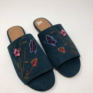 Nanette Lepore Embroidered Slides